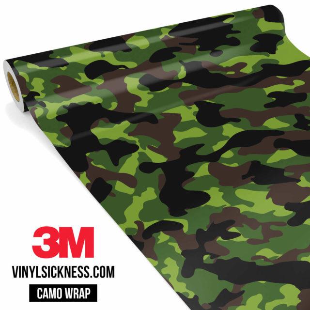 Jdm Premium Camo Jungle Vinyl Wrap Regular