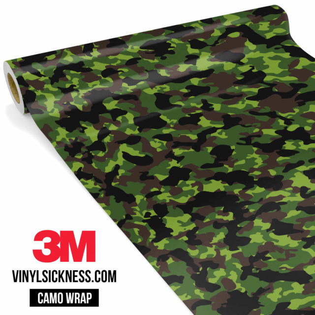 Jdm Premium Camo Jungle Vinyl Wrap Small