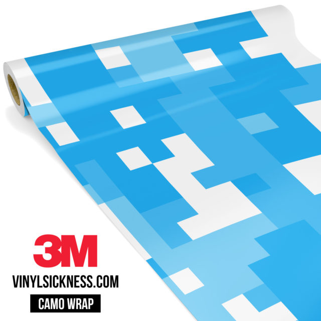 Jdm Premium Camo Light Blue Digital Vinyl Wrap Large