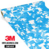 Jdm Premium Camo Light Blue Digital Vinyl Wrap Regular