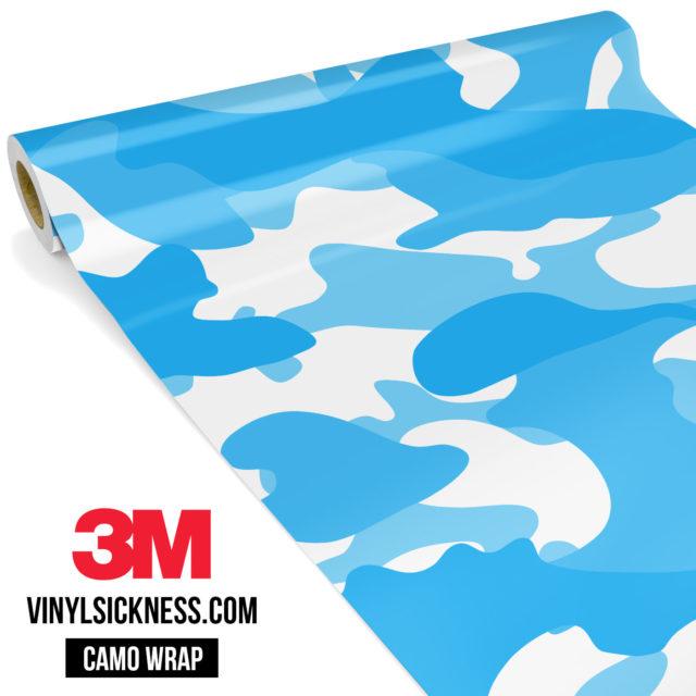 Jdm Premium Camo Light Blue Vinyl Wrap Large