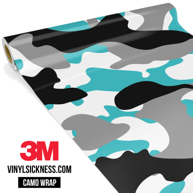 Jdm Premium Camo Light Blue Vinyl Wrap Large