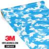 Jdm Premium Camo Light Blue Vinyl Wrap Regular