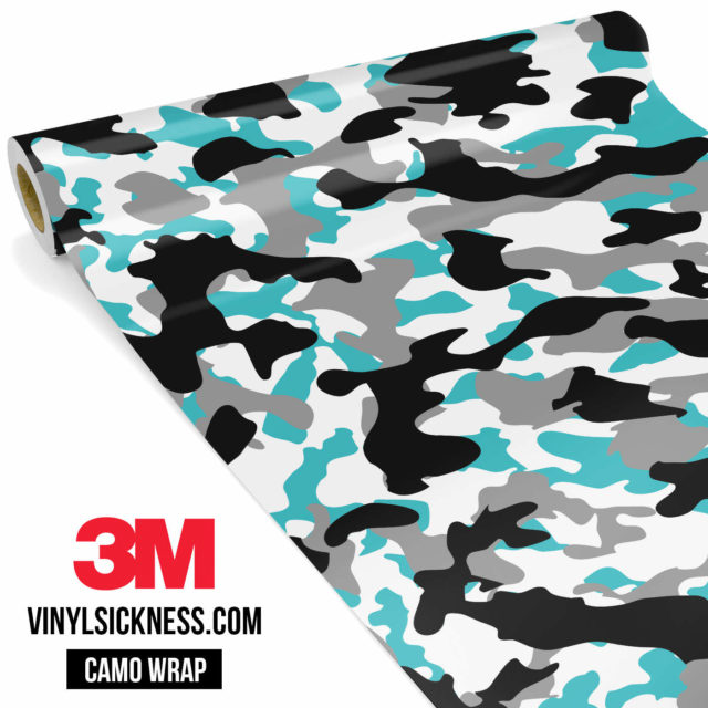 Jdm Premium Camo Light Blue Vinyl Wrap Regular