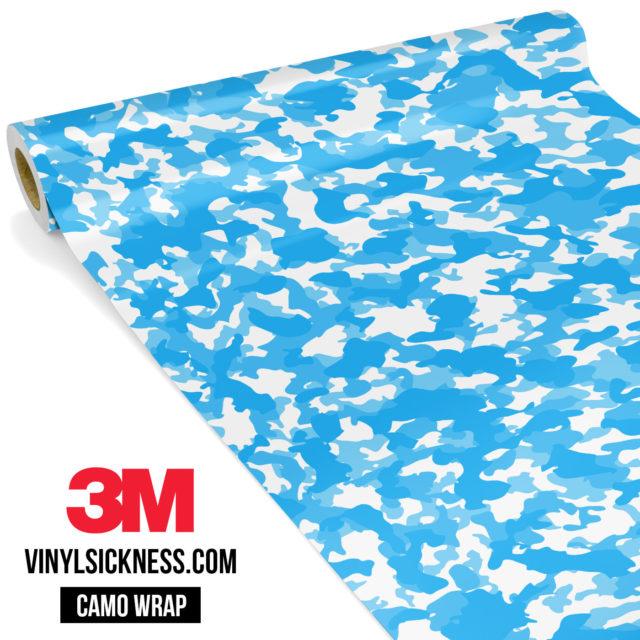 Jdm Premium Camo Light Blue Vinyl Wrap Small