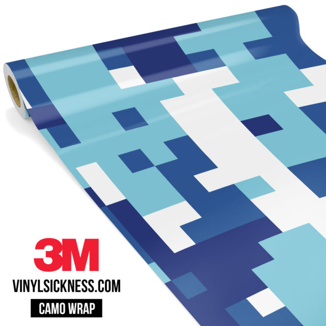 Jdm Premium Camo Medium Cadet Blue Digital Vinyl Wrap Large