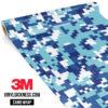 Jdm Premium Camo Medium Cadet Blue Digital Vinyl Wrap Regular