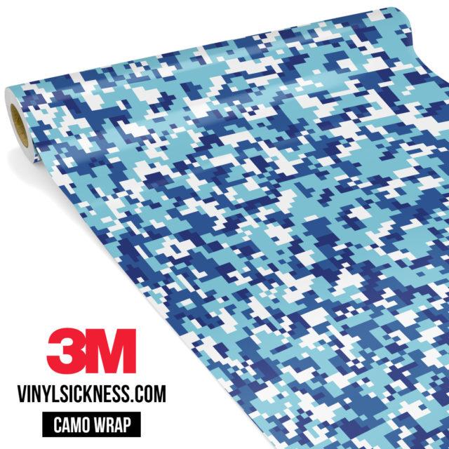 Jdm Premium Camo Medium Cadet Blue Digital Vinyl Wrap Small