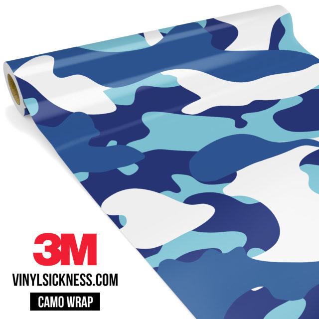 Jdm Premium Camo Medium Cadet Blue Vinyl Wrap Large