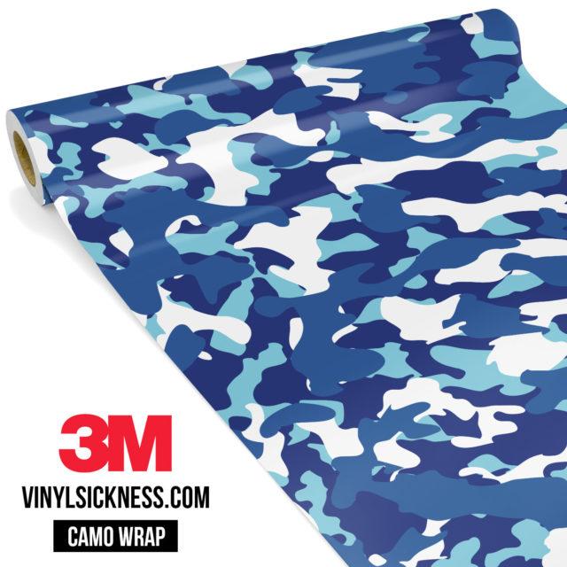 Jdm Premium Camo Medium Cadet Blue Vinyl Wrap Regular