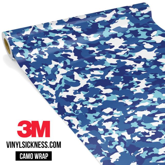 Jdm Premium Camo Medium Cadet Blue Vinyl Wrap Small