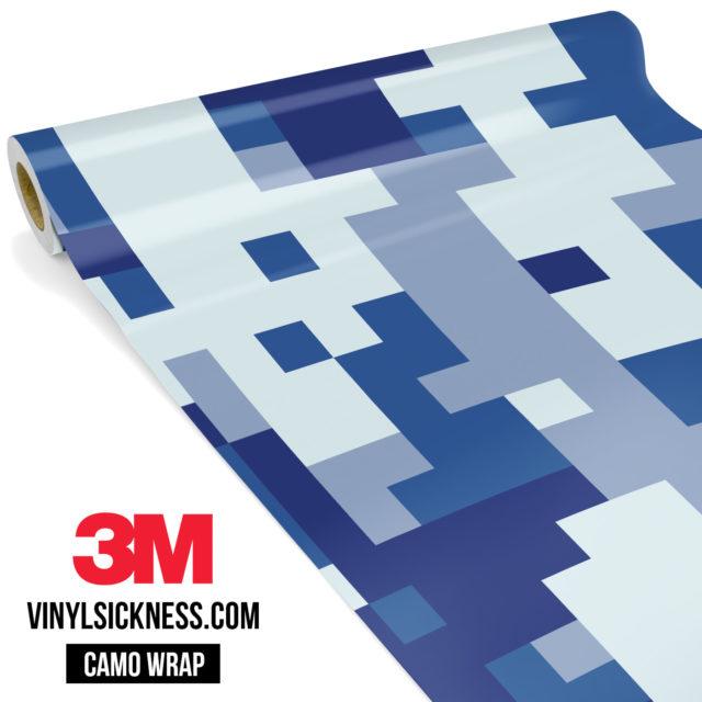 Jdm Premium Camo Midnight Blue Digital Vinyl Wrap Large