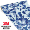 Jdm Premium Camo Midnight Blue Digital Vinyl Wrap Regular