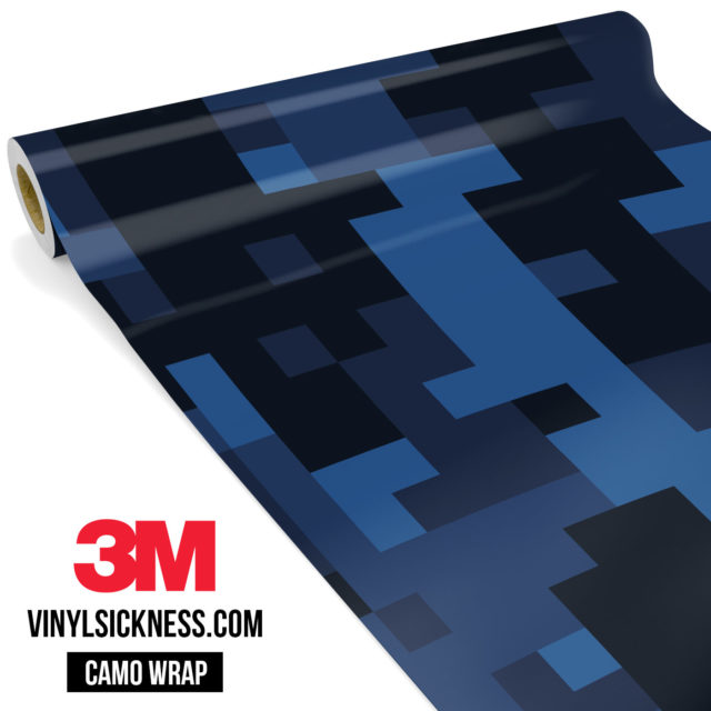 Jdm Premium Camo Midnight Blue Sapphire Digital Vinyl Wrap Large