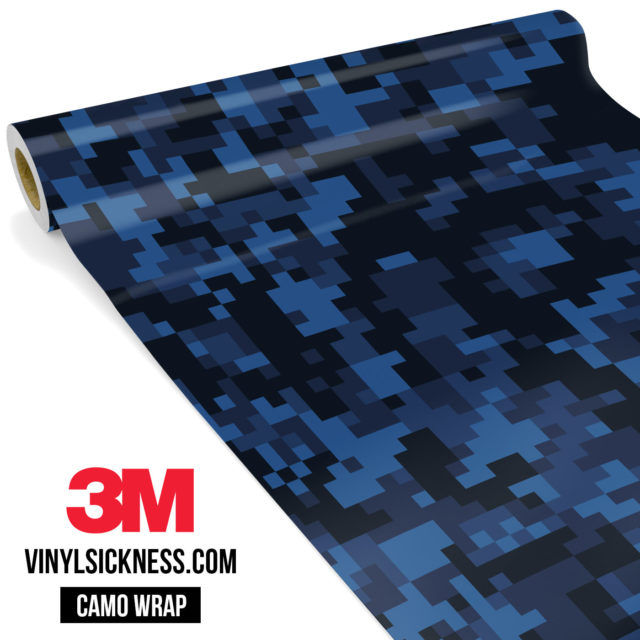 Jdm Premium Camo Midnight Blue Sapphire Digital Vinyl Wrap Regular