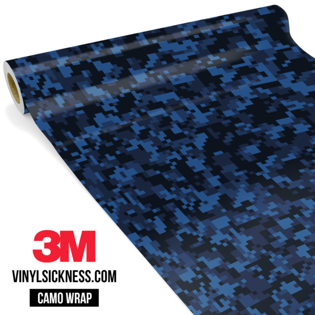 Jdm Premium Camo Midnight Blue Sapphire Digital Vinyl Wrap Small