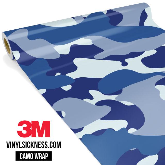 Jdm Premium Camo Midnight Blue Vinyl Wrap Large