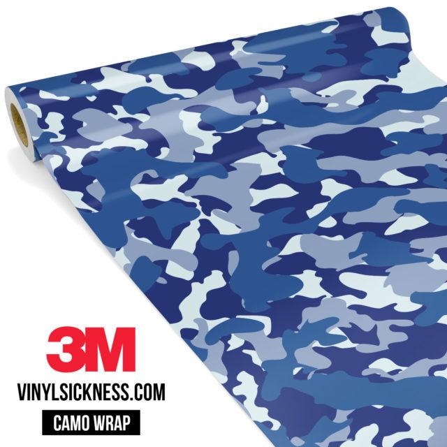 Jdm Premium Camo Midnight Blue Vinyl Wrap Regular