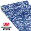 Jdm Premium Camo Midnight Blue Vinyl Wrap Small
