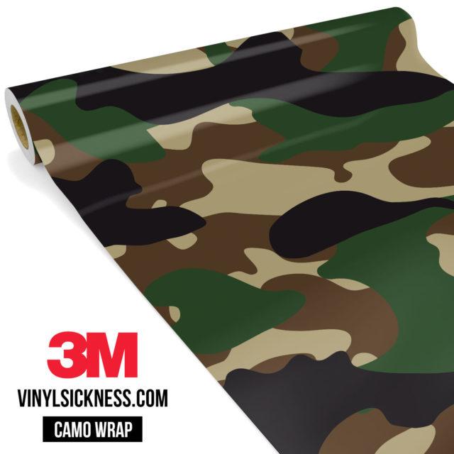 Jdm Premium Camo Military Vinyl Wrap Large