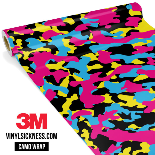 Jdm Premium Camo Neon Party Vinyl Wrap Regular