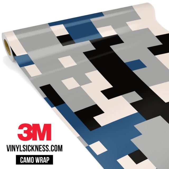 Jdm Premium Camo Oxford Blue Digital Vinyl Wrap Large