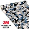 Jdm Premium Camo Oxford Blue Digital Vinyl Wrap Regular