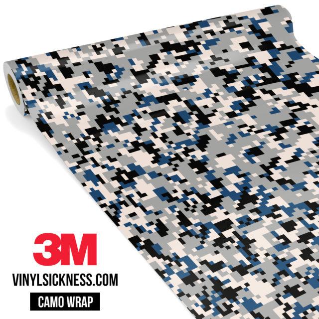 Jdm Premium Camo Oxford Blue Digital Vinyl Wrap Small