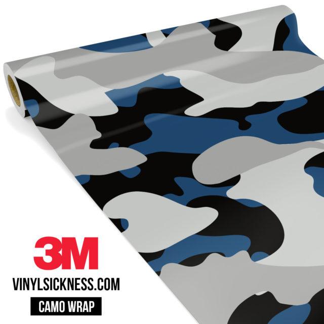Jdm Premium Camo Oxford Blue Vinyl Wrap Large