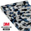 Jdm Premium Camo Oxford Blue Vinyl Wrap Regular