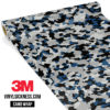 Jdm Premium Camo Oxford Blue Vinyl Wrap Small