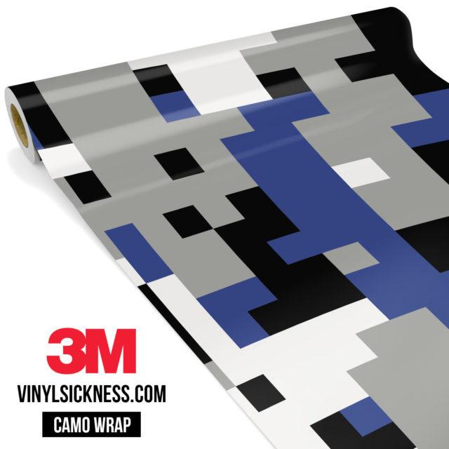 Jdm Premium Camo Persian Blue Digital Vinyl Wrap Large