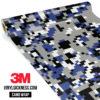 Jdm Premium Camo Persian Blue Digital Vinyl Wrap Regular
