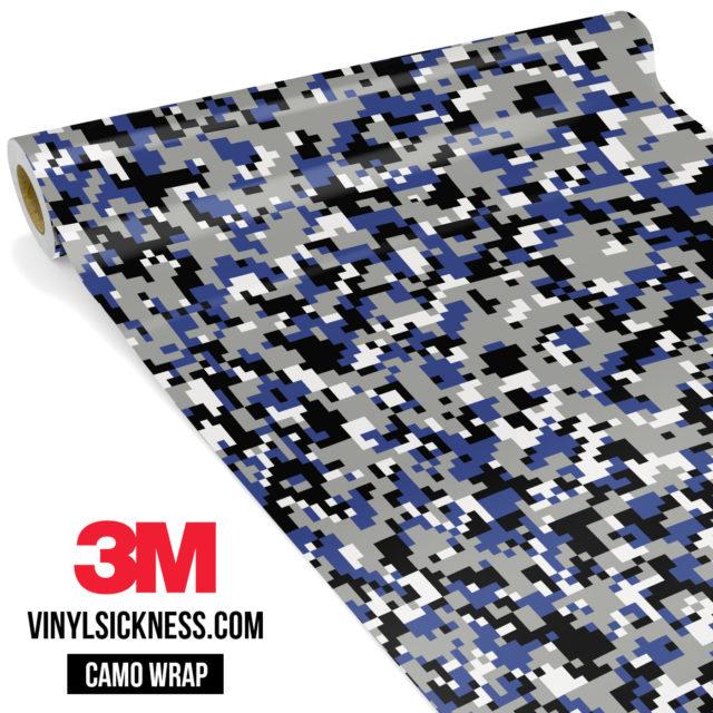 Jdm Premium Camo Persian Blue Digital Vinyl Wrap Small