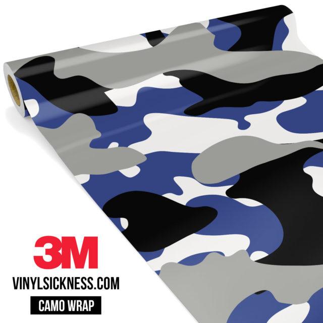 Jdm Premium Camo Persian Blue Vinyl Wrap Large