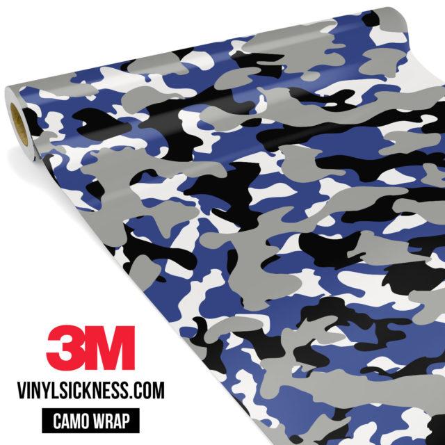 Jdm Premium Camo Persian Blue Vinyl Wrap Regular
