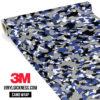 Jdm Premium Camo Persian Blue Vinyl Wrap Small