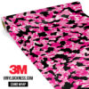 Jdm Premium Camo Pink Vinyl Wrap Small
