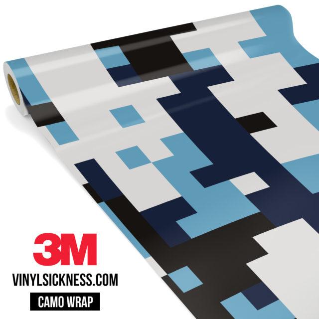 Jdm Premium Camo Powder Blue Digital Vinyl Wrap Large