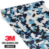 Jdm Premium Camo Powder Blue Digital Vinyl Wrap Regular