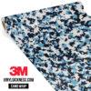 Jdm Premium Camo Powder Blue Digital Vinyl Wrap Small