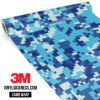 Jdm Premium Camo Prussian Blue Digital Vinyl Wrap Regular