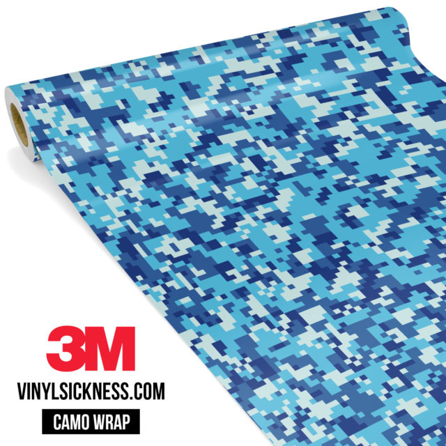 Jdm Premium Camo Prussian Blue Digital Vinyl Wrap Small