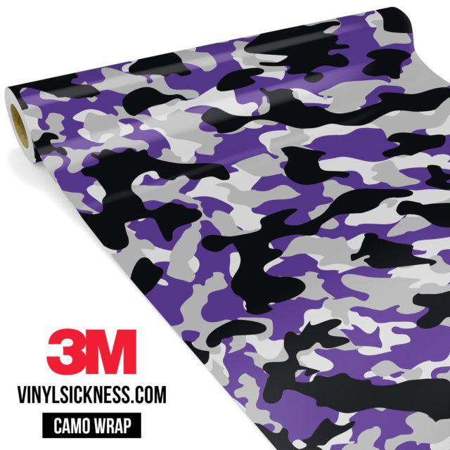 Jdm Premium Camo Purple Vinyl Wrap Regular