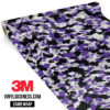 Jdm Premium Camo Purple Vinyl Wrap Small