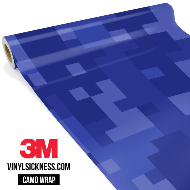 Jdm Premium Camo Royal Blue Digital Vinyl Wrap Large