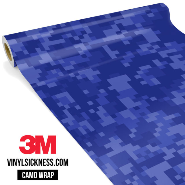 Jdm Premium Camo Royal Blue Digital Vinyl Wrap Regular