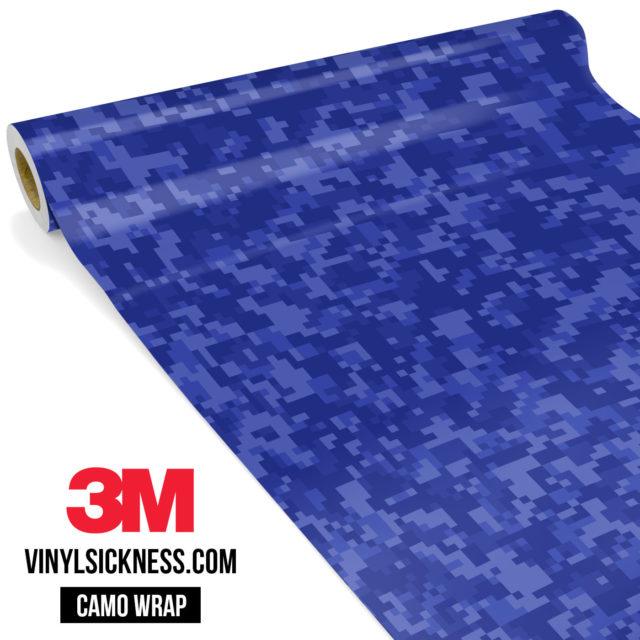 Jdm Premium Camo Royal Blue Digital Vinyl Wrap Small