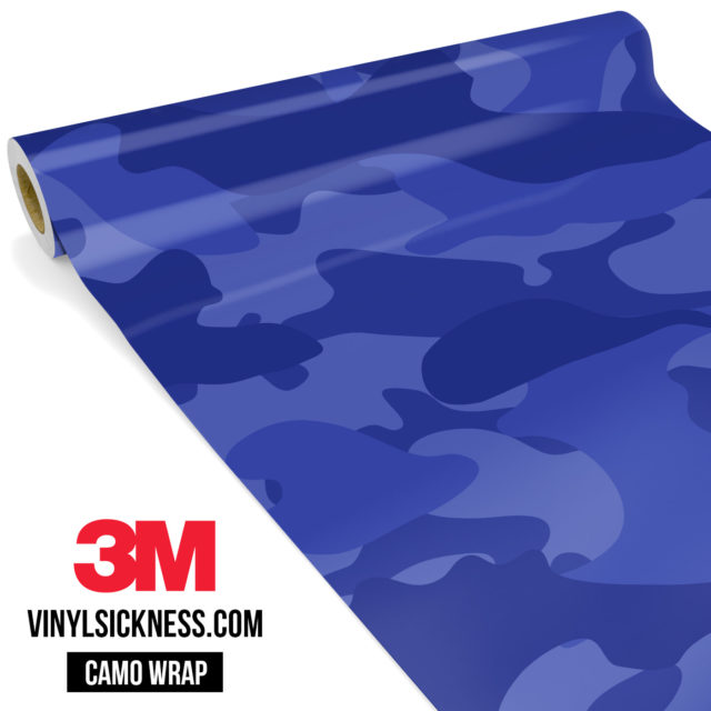 Jdm Premium Camo Royal Blue Vinyl Wrap Large