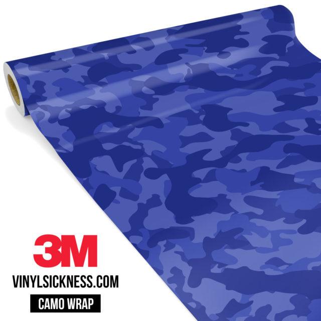 Jdm Premium Camo Royal Blue Vinyl Wrap Regular